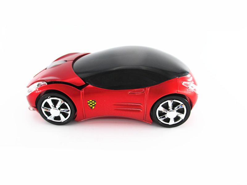 Race Car USB Wireless Mouse Optical Cordless Mice red for Laptop Notebook PC(China (Mainland))