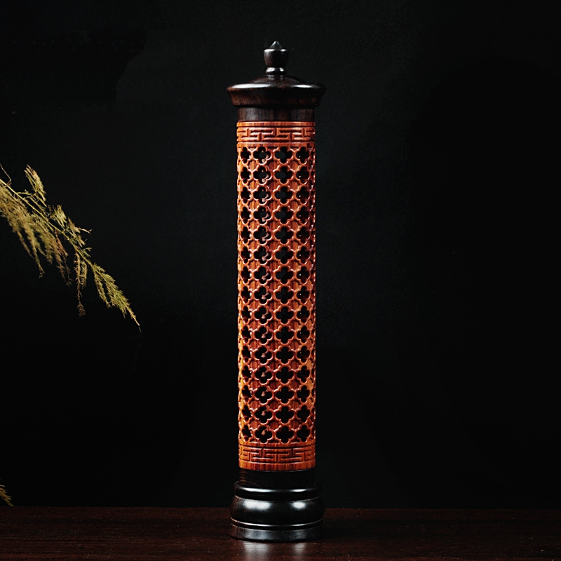 Grilles Vertical Hollow Sinking Sandalwood Incense Furnace Incense Holder Wood Incense Burners Buddhist Supplies Free Shipping(China (Mainland))