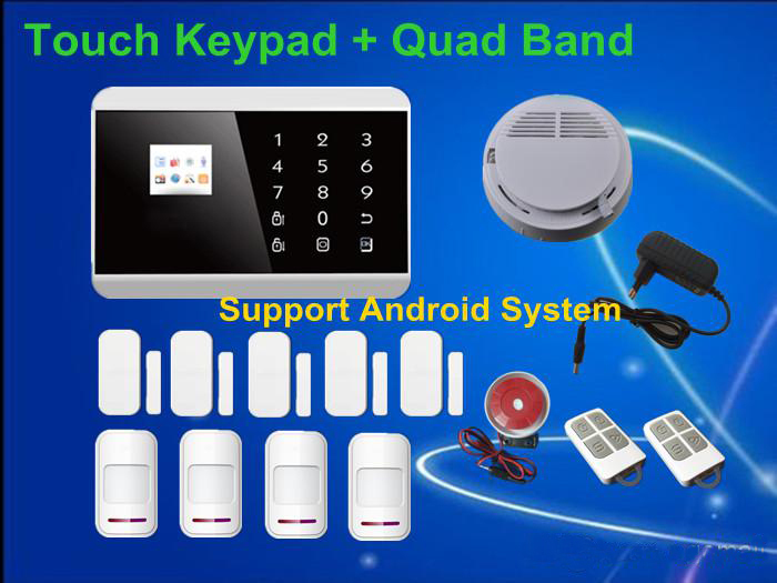 Android APP LCD Display wireless Touch Screen Keypad Panel GSM PSTN SMS Home Security Burglar Voice Alarm remote arm System - Shenzhen Egomall Technology Co.,LTD store