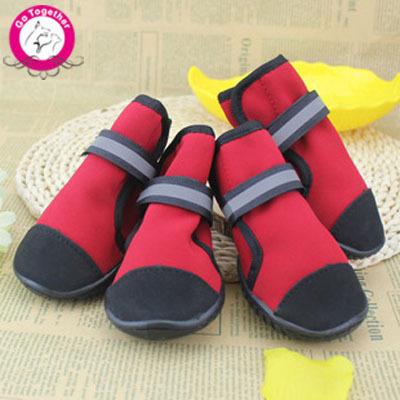 Winter Warm Waterproof Pet Dog Shoes Anti Slip Rain Boots For Large Dogs Red Blue XXS-XXL(China (Mainland))