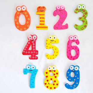 10pcs/pack Creative 10 numerals Wooden Fridge Stickers Magnetic Animal Sticker Figure Toy for Kids Early Learning Toys(China (Mainland))