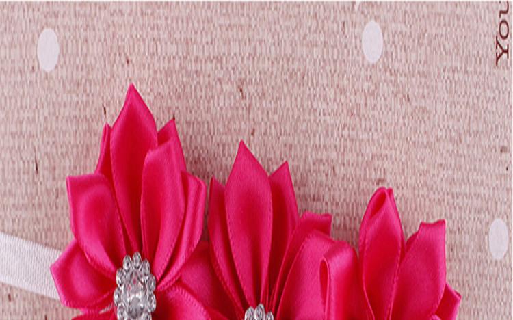 Держатель младенца девушки Мягкие Ленты Для Волос Цветок Группа 7 Цветов Аксессуары Для Волос