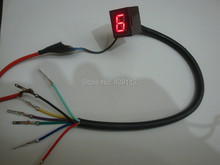 1 piece/lot Hot Sale Red Light LED Universal Digital Gear Indicator Motorcycle Display N-6  Free Shipping !(China (Mainland))