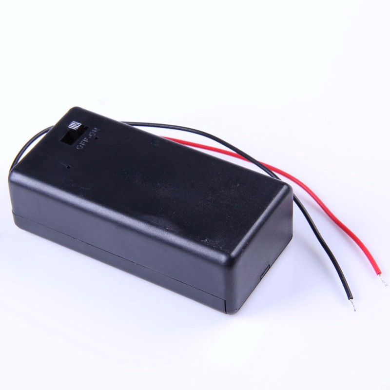 image for Hot Sale  5PCS 9V Battery Holder Box Case With Wire Lead ON/OFF Switch