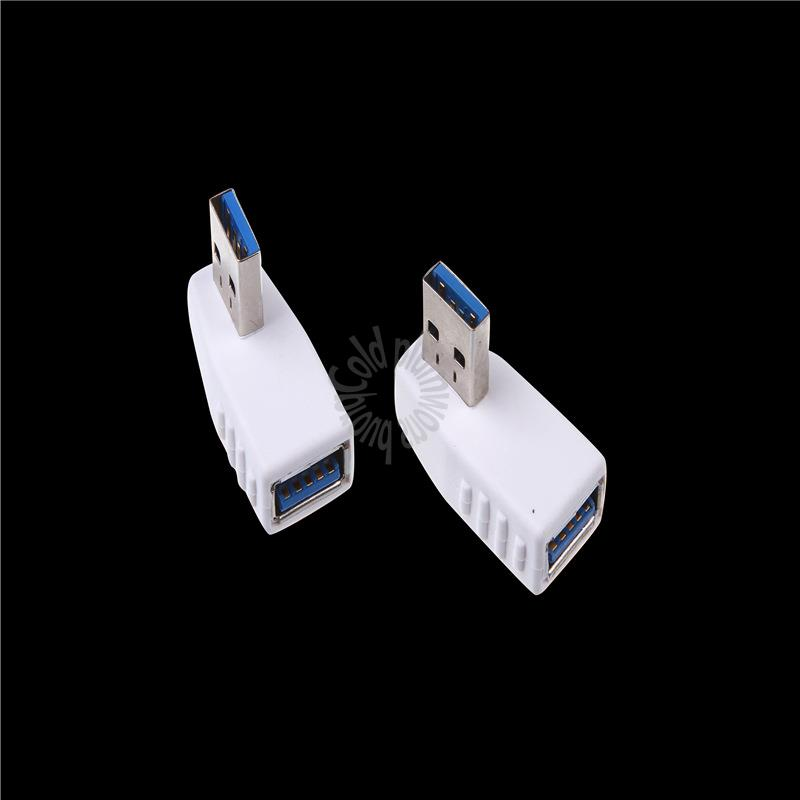 USB revolution USB female 90 elbow at right angles to the right USB3.0 Adapter A revolution A white female plugs high speed(China (Mainland))