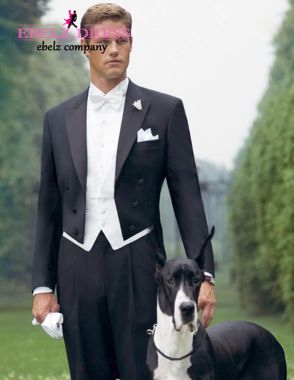 2015 High Quantity Black Britain Style Suit For Men Formal Suit Trajes Para Hombre Men Tuxedo Wecdding Suit Long Jacket A84(China (Mainland))