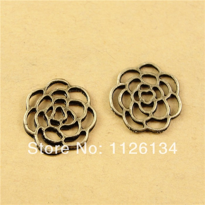 A2110 New Design Vintage Jewelry Findings Alloy Antique Bronze Rose(China (Mainland))