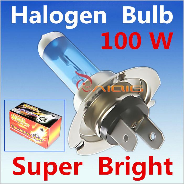 2pcs H7 100W 12V Super Bright White Fog Lights Halogen Bulb High Power Car Headlights Lamp