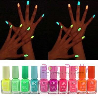 Конфеты цвета флуоресцентный световой ногтей свечение в лак 7 мл