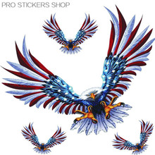 Reflective Tape American Eagle Sticker Car Stickers 4 PCS in a Set Golf 7 Car Styling and Decals Motorcycle Stickers(China (Mainland))
