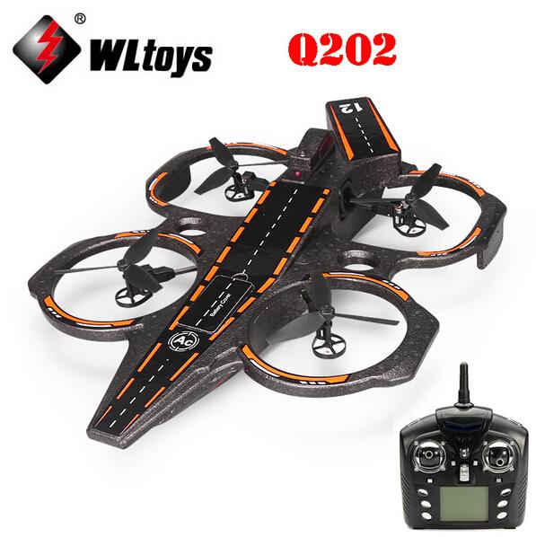 Original WLtoys Q202 Carrier Aeroamphibious 6 Axis Gyro 2 4G 4CH RC Quadcopter WL Q202 RTF