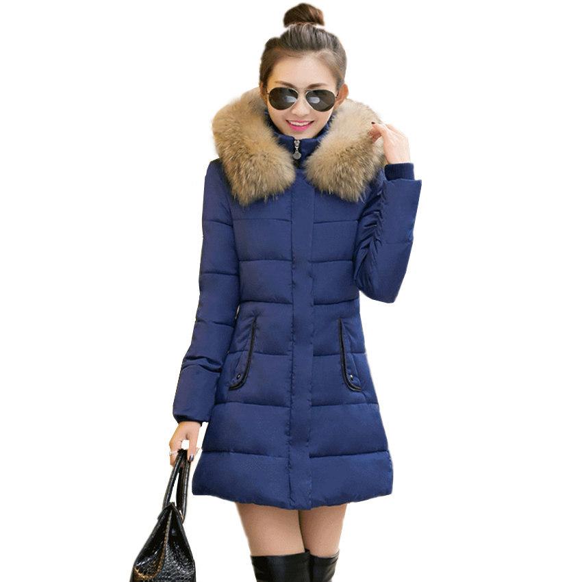 2016 Women Winter Jackets Down Snow Wear Long Parka Jacket ...