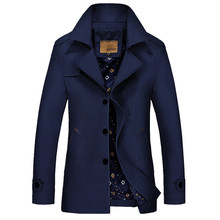 2015 jacket male autumn long trench coat big yards leisure men's clothing coat jacket