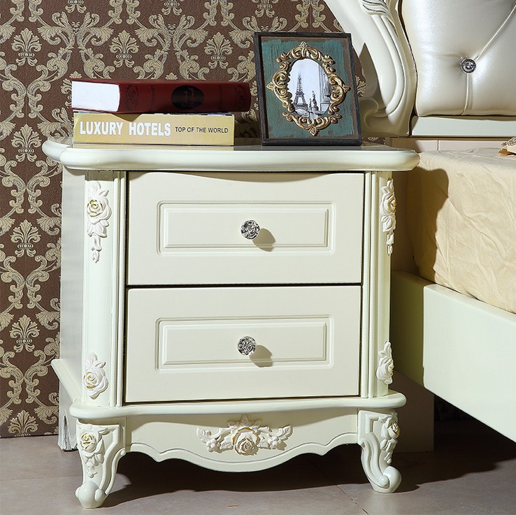 high quality bed Fashion European French Carved bed nightstands(China (Mainland))