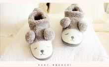 Cute Fluffy Ears Sheep Warm Slippers Lovers Autumn Winter Slippers Shoes Woman Pantuflas Home Slippers Indoor Zapatos Mujer