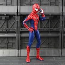Подлинные Мстители Marvel Бесконечность войны Железный паук фигурка Человек-паук Черная пантера Железный человек фигурка Коллекционная моде...(China)