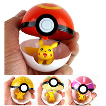 Arpa Trainer  Pokeball Love Park Ball Masterball Pokeballs GS Ultra Dive Poke Ball Toy 7CM, with Pikachu(China (Mainland))