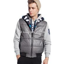 Men Warm Winter Waistcoat Men s Outwear Down Vest Jacket Stripe Two Sides Sport Sleeveless Jacket
