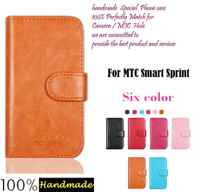 In Stock! MTC Smart Sprint Case Flip Leather Phone Case Cover for MTC Smart Sprint Stand Function Luxury Leather Wallet Design(China (Mainland))