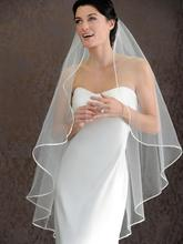 Hot Seller 1 LAYER White Ivory wedding Veils Short Bridal Wedding Accessories Veil bridal wedding veil With Satin band A013(China (Mainland))