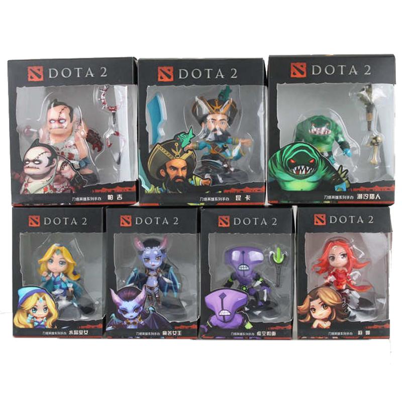 Гаджет  WOW dota 2 figure Kunkka Lina Pudge Queen Tidehunter etc 8-12 cm 1 pcs/set PVC Action Figures Collectible Toys  None Игрушки и Хобби