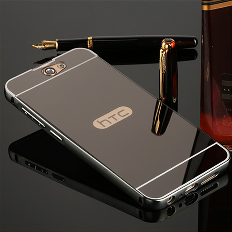 Luxury Mirror plating PC Back Cover For HTC One A9 Anti-knock Metal Aluminum Frame Ultra Slim Acrylic mobile phone Case(China (Mainland))