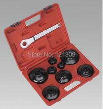 Taiwan herramientas profesionales de automóviles filtro de aceite juego de llaves 9 unid para audi, BMW ETC