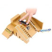 HOT 5PCS Skate Park Kit Ramp Parts for Finger Board Ultimate Sport Training Props Indoor Sport Fingerboard Toy For Kids(China (Mainland))
