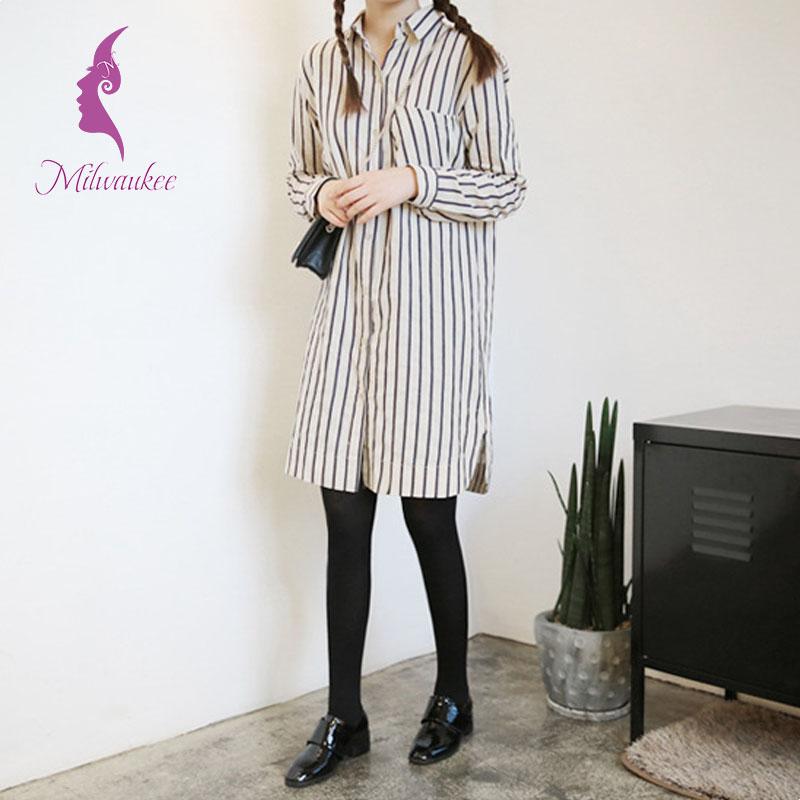 Milwaukee Fashion Style Long Women Shirt Full Sleeve Top Clothes Korean New Striped Cotton Slim Women Shirt Plus Size Wholesale(China (Mainland))