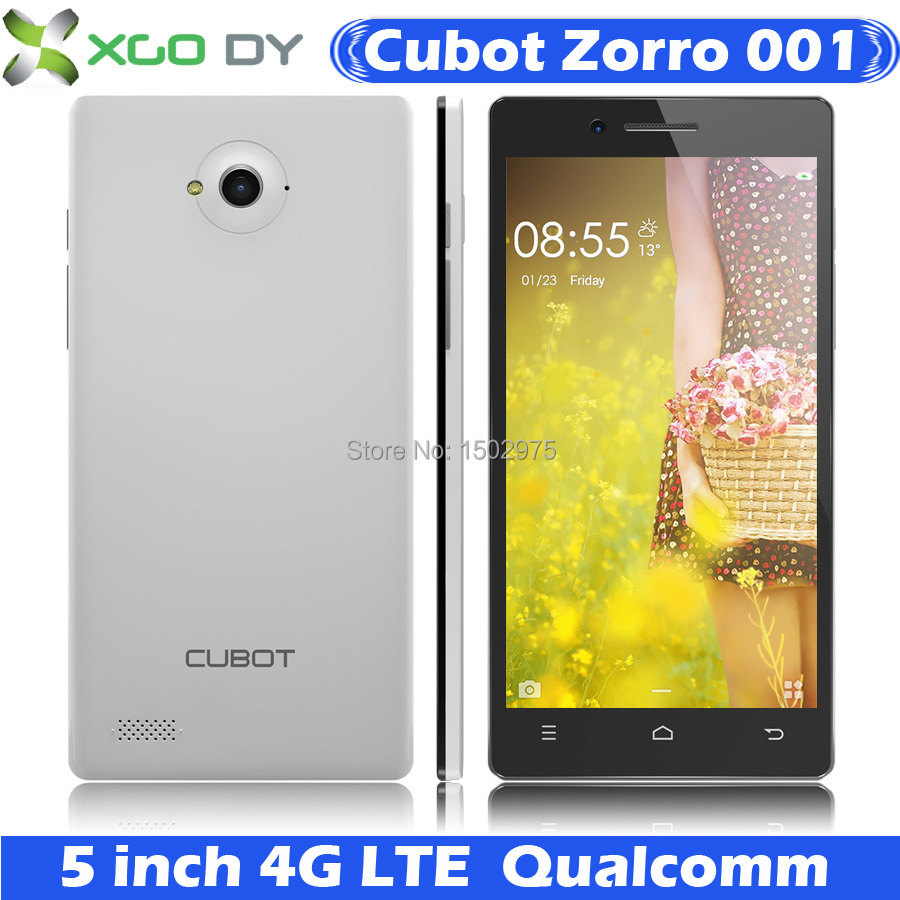 Original Cubot Zorro 001 5 inch 4G LTE Quad Core MSM8916 Android Mobile Cell phone 13MP 1G RAM 8G ROM Smartphone UK Stock(China (Mainland))
