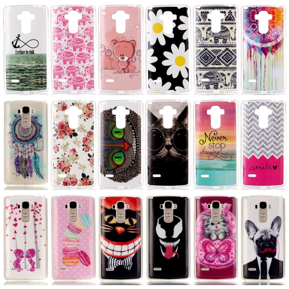 New Soft Beautiful TPU Thin Case For LG G4 Stylus / G Stylo / LS770 Mobile Phone Slim Rubber Silicone Bags Back Cover Skin(China (Mainland))