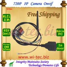 Mini DIY IPC WIFI 720P Security ONVIF P2P IP Cam IR-Cut 1.0MP Network Megapixel Camera Free Software Mobie View