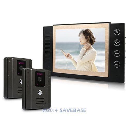 """HOMSECUR 8"""" LCD Video Door Phone DoorBell Intercom System 700TVL Camera Night Vision 2v1(China (Mainland))"""