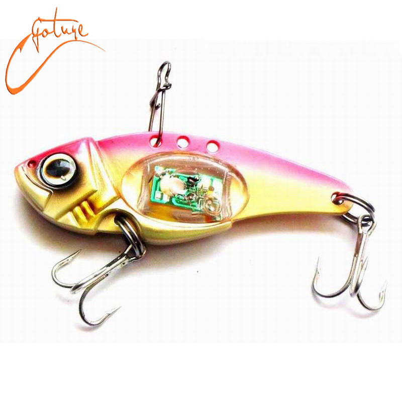 2 pcs lot 32 g 80 mm lighted vib squid fishing lure led