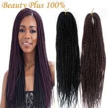 Synthetic Braiding Hair Senegalese Braids 22″ Folded Kanekalon Kinky Twist Hair Crochet Braid Hair Extensions