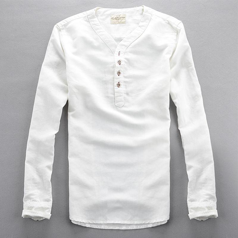 New 2015 autumn long sleeve shirts for men high quality for Mens long sleeve pullover shirts