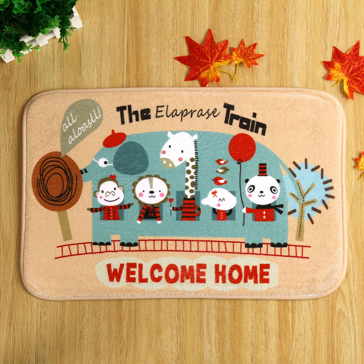 Elephant Car Cartoon Rugs And Carpets For Home Living Room Welcome Carpet Rectangle Door Mat Tapete Alfombra Tapis Salon DD-11(China (Mainland))