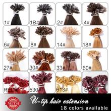 "16"" 20"" 24"" 1g/s 50g 100g Brazilian Remy Hair Keratin U Nail Tip Straight Human Hair Extensions New 2014 5A High Grade 16 colors(China (Mainland))"