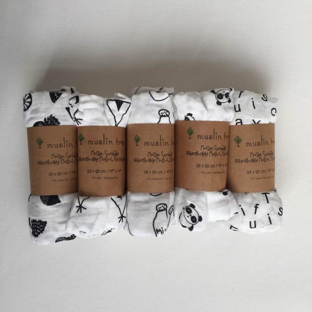 Newborn Muslin Tree swaddle quality better than Aden Anais Baby Multi-use cotton/bamboo Blanket Infant Parisarc XO/Cross Wrap(China (Mainland))