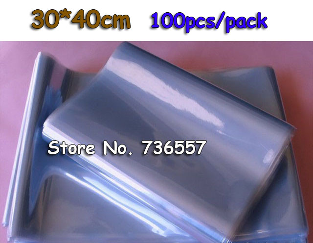 30*40cm Soft Transparent Blow Molding PVC Heat Shrinkable Bags Shrink Film Wrap Cosmetic Packaging Wrap Materials Plastic Bag(China (Mainland))