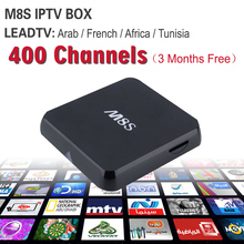 French & Arabic IPTV Quad Core M8S TV Box With 2GB/8GB 3months Leadtv For Sports Canal Plus Kids MBC Sky Europe Sports