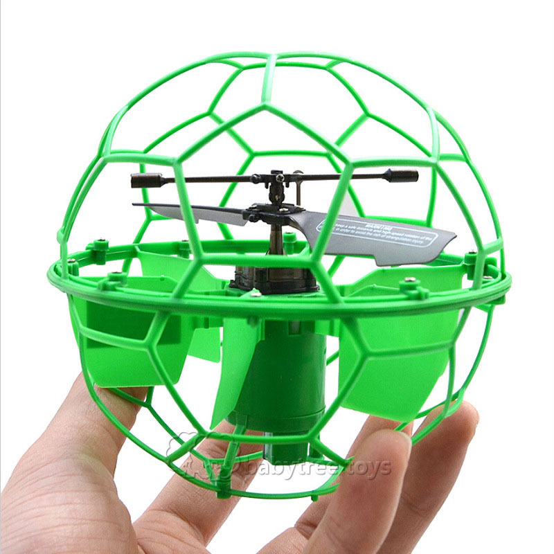 Free Shipping Fei Lun Induction Helicopter Radio Control Fly Ball with Ligh Helicoptero De Controle Remoto a Toys for Children(China (Mainland))