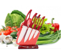 Newest Kitchen Ceramic knife 6pcs Gift Set 3 inch 4 inch 5 inch 6 inch peeler