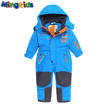 Russian mingkids toddler boy winter rompers Kombinezon fleece padded winter Ski Jumpsuit outdoor Warm thicken German Snow Suit(China (Mainland))