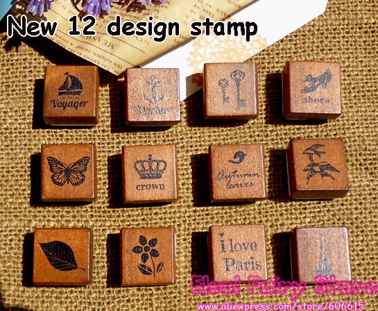 (2pcs/box,24pcs/lot) Vintage Stamp, Deco Wood Stamp , Match Box Gift Rubber wood Stamp Free shipping(Hong Kong)