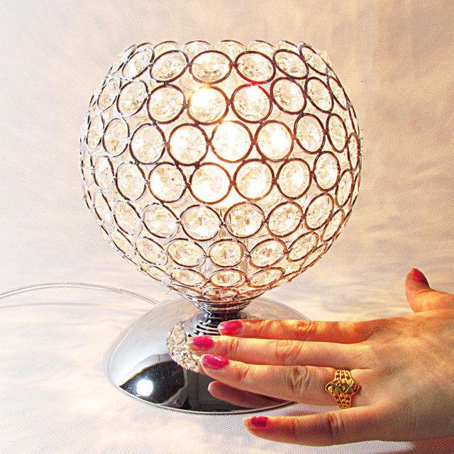 led crystal lamp touch control table lamps bedside for bedroom
