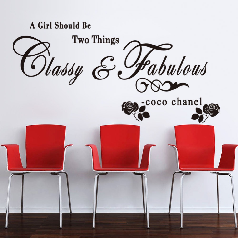 Removable Wall Art Decals Quotes : Black pink quotes wall sticker sayings pharase