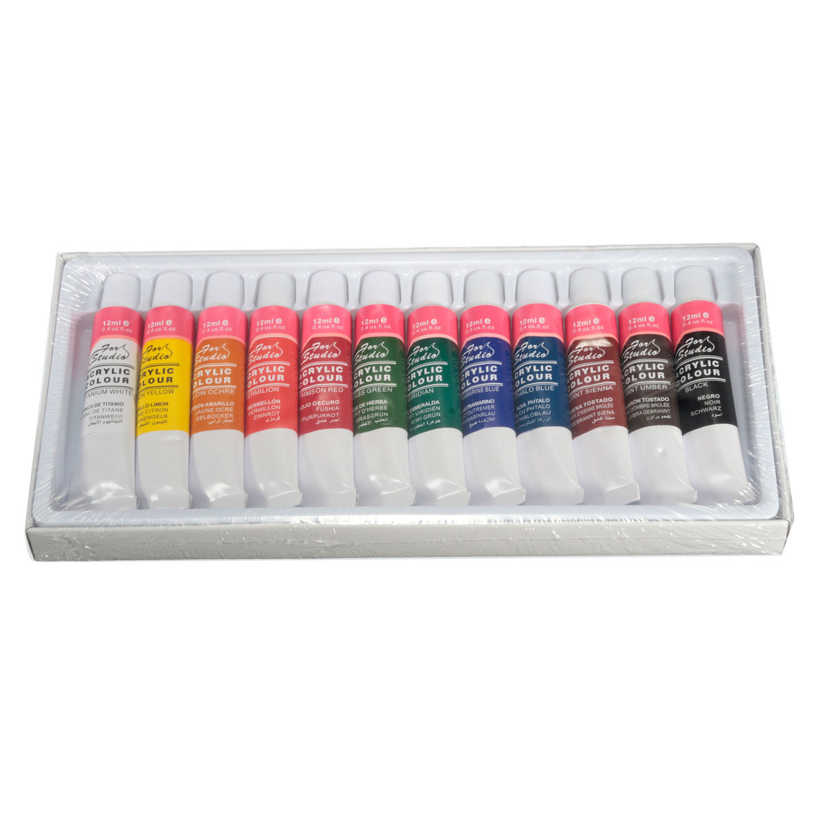 Wholesale Price Best Price 12 Colors One Set 12ml Paint Tubes Draw Painting Acrylic Colour Set Fit For Paintbrush School Supply(China (Mainland))