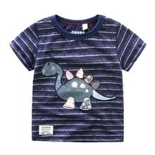 1-4yrs Boy Natural Cotton Sweat Absorb T- Shirt Navy Blue Kids Short Sleeve 2016 Summer Good Breathable Clothes(China (Mainland))