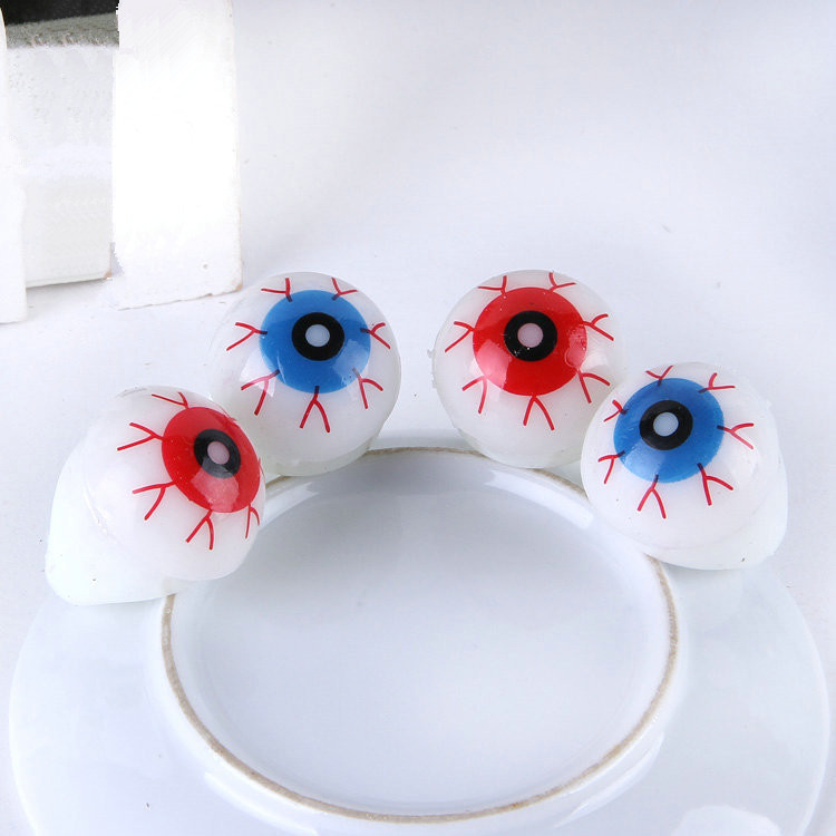 10pcs/lot Creative eyes glowing ring for party halloween decoration novelty light up toys visual shock led finger ring(China (Mainland))